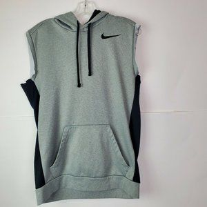 Nike Therma Fit Hoodie Vest Gray Cutoff Small